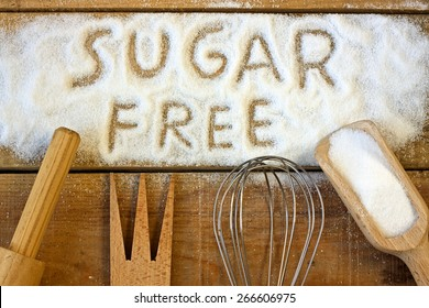 a sugar free word with background - still life