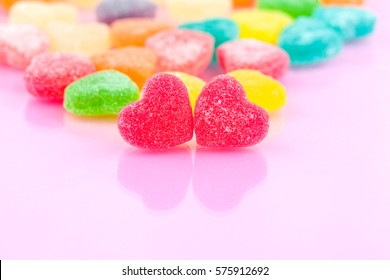 sugar heart shaped candy