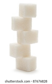 Sugar isolated on the white background
