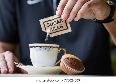 Sugar kills paper sugar pack