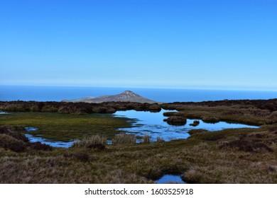 Sugar Loaf Mountain Vista Over Dublin Bay Mountains and Sea