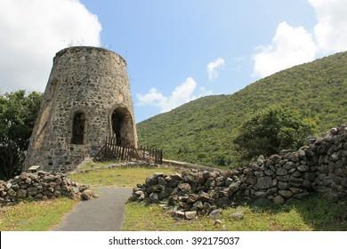 Sugar Mill at Annaberg Plantation in St. John in USVI
