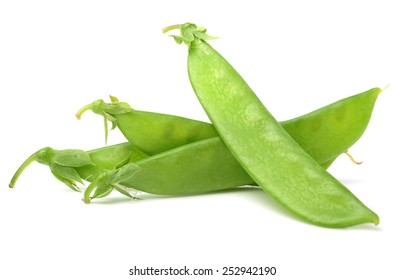 Sugar pea pod - snow pea on white background