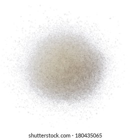 Sugar pile isolated on white background top view