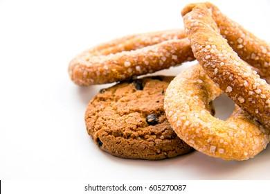 Sugar pretzels and cookies