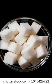 Sugar refined in a glass plate. Place for your inscription