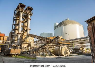Sugar refinery industrial - Poland, Europe.