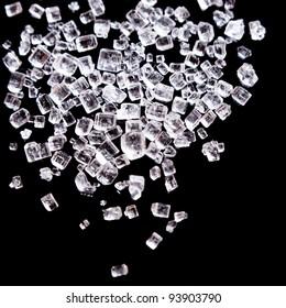 Sugar or salt crystals macro shot