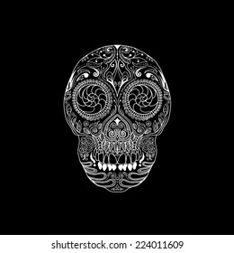 Sugar Skull Black and White