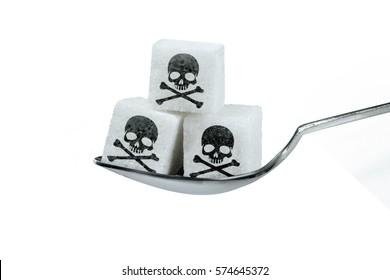 Sugar with skull icon