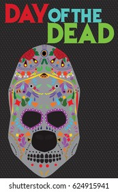 A sugar skull illustration or the Mexican holiday Day of the Dead.