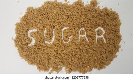 Sugar Spelled Out in Brown Sugar