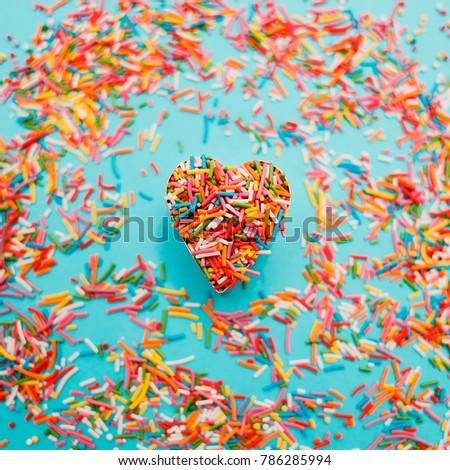 Sugar Sprinkles Decoration Cake Isolated On Stock Photo