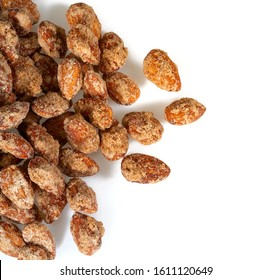 sugared almonds isolated on  white