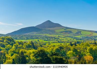 Sugarloaf hill in Ireland