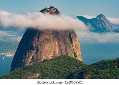 Sugarloaf Mountain - the Landmark of Rio de Janeiro City - Under the Cloud