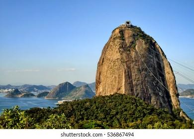 Sugarloaf Mountain (Pao de Acucar) in Rio de Janeiro Brazil