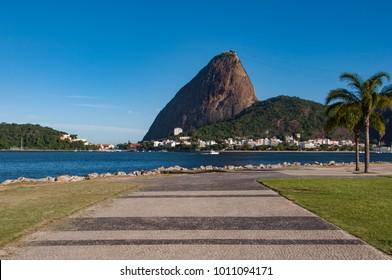 Sugarloaf Mountain View From Flamengo Park in Rio de Janeiro, Brazil