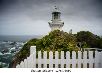 Sugarloaf Point lighthouse at Seal Rocks, Myall Lakes National Park, NSW, Australia