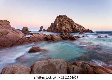 Sugarloaf Rock is a popular tourist destination near Dunsborough in the South West region of Western Australia.