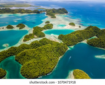 Sugbba Lagoon, Siargao, from the air