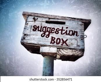 Suggestion box outside a rural school in Zimbabwe