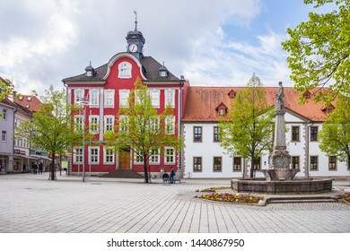 SUHL, GERMANY - CIRCA APRIL, 2019: City administration alias Stadtverwaltung of Suhl in Thuringia, Germany