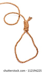 Suicide Noose on white background