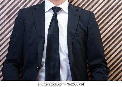Suit businessmen, Waist Up