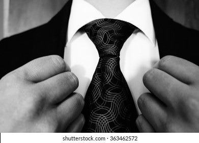 Suit and Tie in Black and white