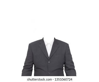Suit Without Head on White Background