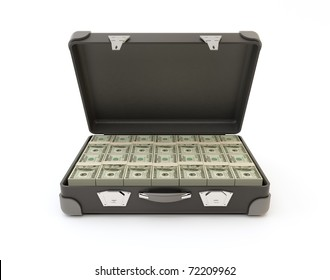Suitcase Full of Banknotes.