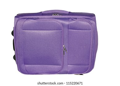 Suitcase isolated on a white