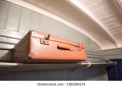 suitcase on the train