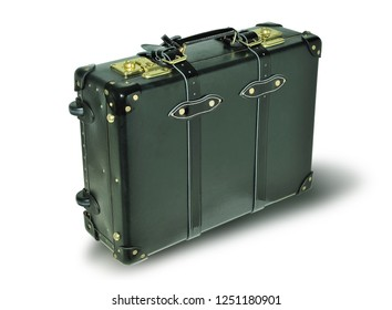 Suitcase on a white background. Item for transportation of things and travel.