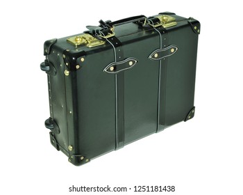 Suitcase on a white background. Item for transportation of things and travel. Isolated.