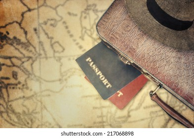 Suitcase with passports