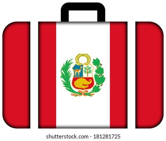 Suitcase with Peru Flag