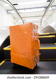 Suitcase that was placed in the underground mall