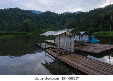 Sukabumi,west java/Indonesia - February 24, 2019 : Situ gunung or mountain lake is one of tourist attraction in gede pangrango mount national park