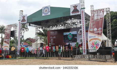 Sukamakmur, Indonesia- Juli 03,2019: Pesta iman anak dan remaja (PIARA) is an event every five years for fostering  for christian children. This years theme is unity in diversity.