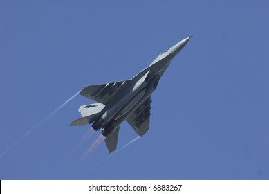 Sukhoi SU-30 in action during Malaysia 50 years celebration