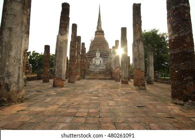 Sukhothai historical park, Buddha Statue at Wat Mahathat in Sukhothai Historical Park,Thailand