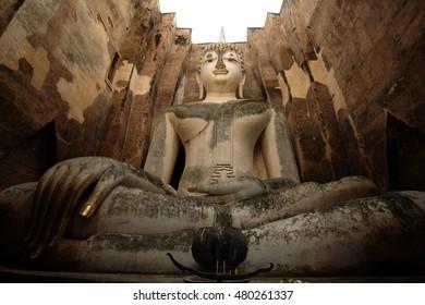 Sukhothai historical park, Buddha Statue in Sukhothai Historical Park,Thailand