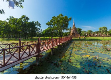 The Sukhothai Historical Park covers the ruins of Sukhothai, in what is now Northern Thailand.