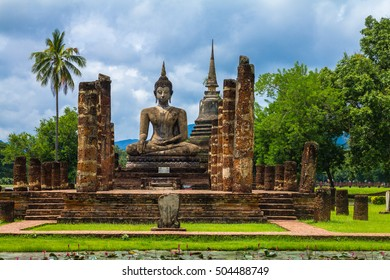 The Sukhothai Historical Park covers the ruins of Sukhothai, in what is now Northern Thailand.  October 8, 2016.
