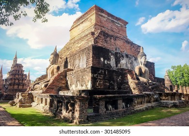 Sukhothai historical park, Mahathat Temple ,Thailand.