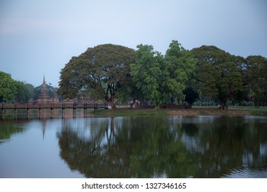 Sukhothai Historical Park or Old Sukhothai City the very first capital city of Thailand, Sukhothai Historical Park In Thailand, Buddha statue, Old Town,Tourism, World Heritage Site, Civilization