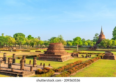 Sukhothai historical park, the old town of Thailand in 800 year ago - Buddha Statue at Wat Mahathat in Sukhothai Historical Park,Thailand