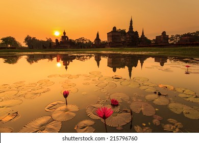 Sukhothai historical park, the old town of Thailand in 800 years ago